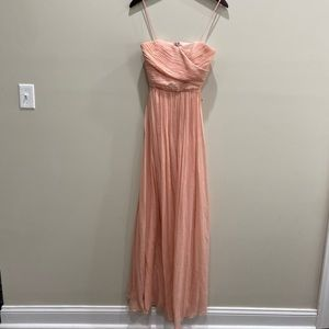 NWT's JCrew Pink Strapless Bridesmaid Prom Dres 00
